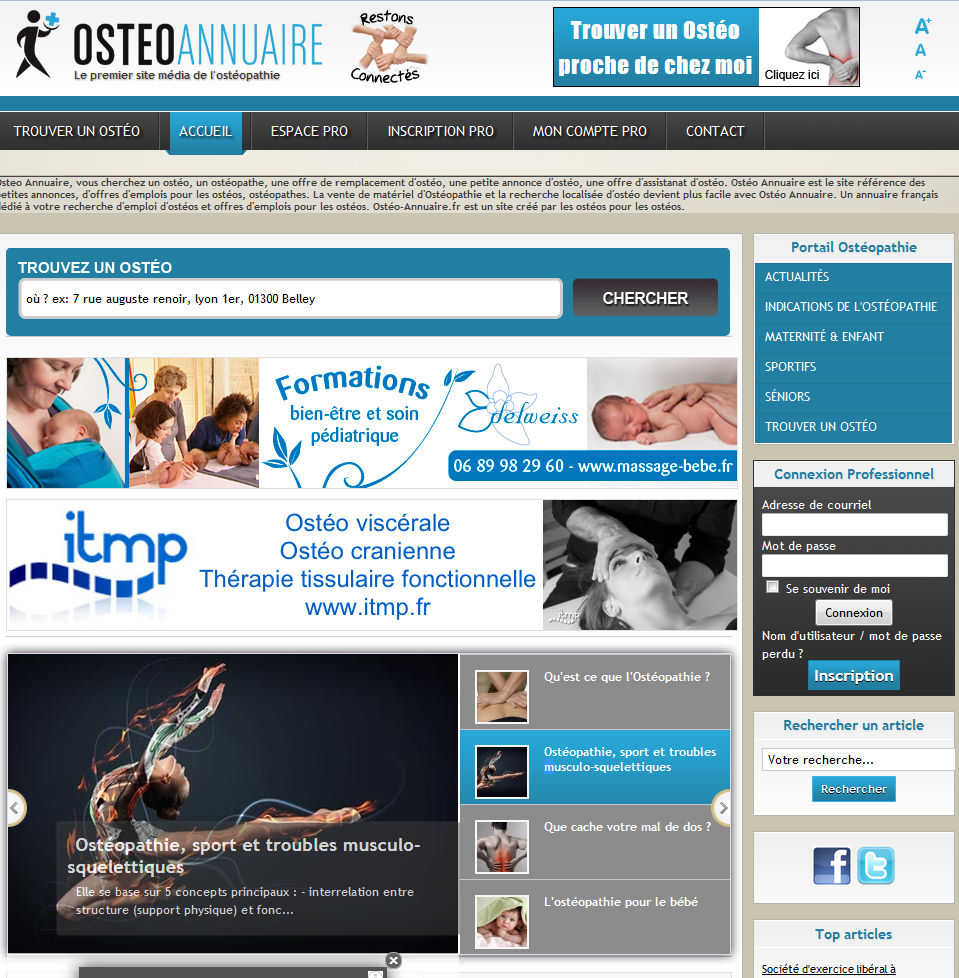 Osteo Annuaire